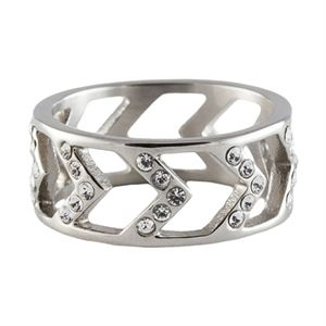 Picture of Silver Chevron Ring - Size 8